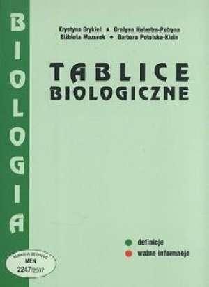 Tablice biologiczne - Krystyna Grykiel