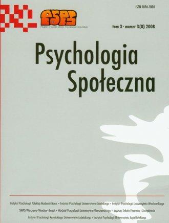 Psychologia Spo�eczna nr 3(8)2008. Tom 3