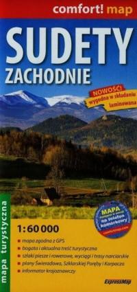 Sudety Zachodnie (mapa turystyczna - okładka książki