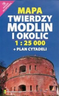 Mapa Twierdzy Modlin i okolic (skala - okładka książki