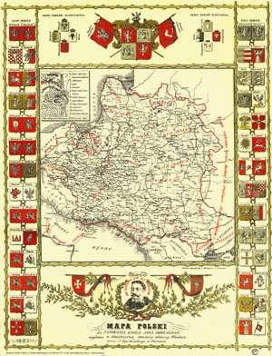 Mapa Polski za panowania kr�la Jana Sobieskiego wydana w dw�chsetn� rocznic� odsieczy Wiednia przez J. Szpetkowskiego w Poznaniu