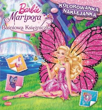 Barbie Mariposa i Ba�niowa Ksi�niczka. Kolorowanka z naklejkami - Wydawnictwo AMEET