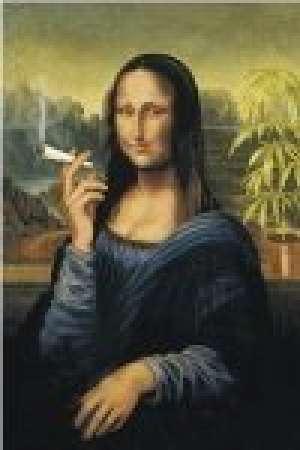 reprodukcja, plakat -  Mona lisa z papierosem (75) - Wydawnictwo WIZARD & GENIUS