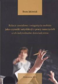 Relacje zawodowe i osiągnięcia - okładka książki