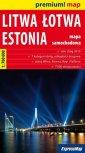 Liwa, �otwa, Estonia mapa samochodowa (skala1:700 000)